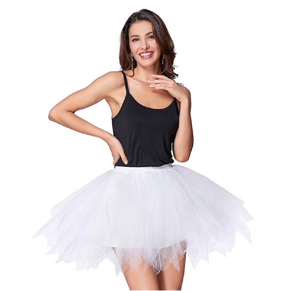 High Quality Women Tulle Tutu Skirt Pleated skirt Sexy Full Lining Adult Dance Ball Gown skirts Hot sale 1