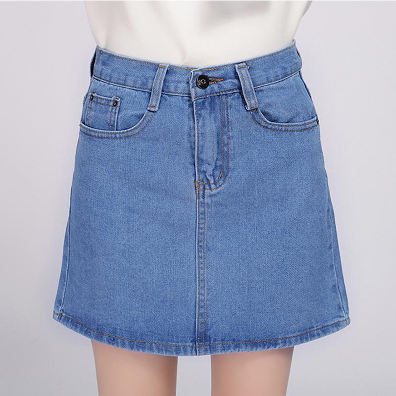 18 Denim Skirt Women Winter Autumn Vintage Casual Female A-Line Jeans Ladies Office Mini Skirt Saia Plus Size S-3XL 3 Colors