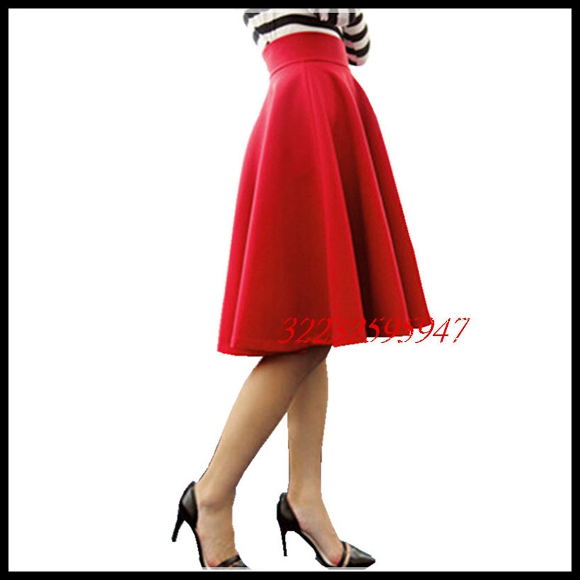Paige Skirts Space cotton Autumn Winter Grown Place Umbrella Skirt Retro Waisted Body Skirt New Europe And The Code Word Pleated 2