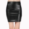 19 New fashion Women faux pu Leather skirt high waist party clothing female short pencil woman skirts saias femininas