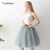 Tutu Tulle Skirt Knee Length Pleated Skirts Womens Wedding skirt 6 Layers Fashion Tutu Tulle Skirt Knee Length Pleated Skirts Womens Wedding skirt Lolita Petticoat Saia Faldas Jupe.