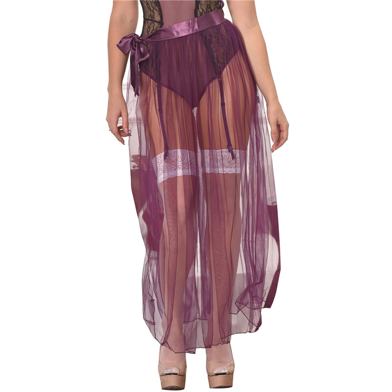 RS80272 Skirts Womens New Arrival Hot Sale Purple Transparent Skirt Solid Plus Size XL Sexy Skirts Womens 19 See Through 1