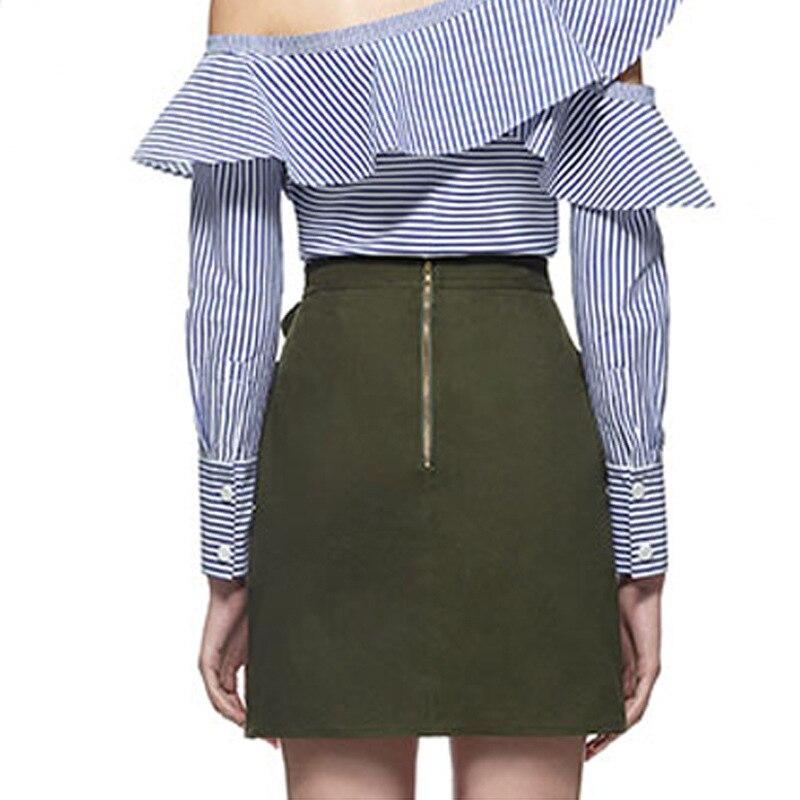 Self Portrait High Waist Mini Skirt 19 Summer Women Button Lace Patchwork Skirts 2