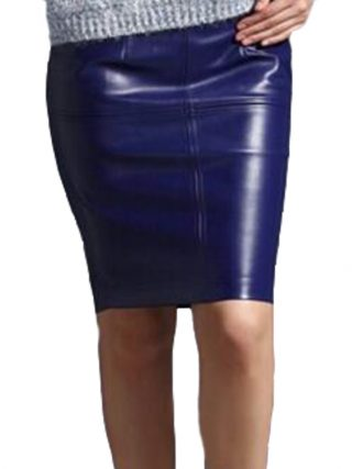 Women Leather Skirt 19 Autumn Winter Women pencil Faux Leather skirts Sexy Pu leather Skirt Black pink office Lady skirts