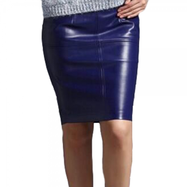 Women Leather Skirt 19 Autumn Winter Women pencil Faux Leather skirts Sexy Pu leather Skirt Black pink office Lady skirts
