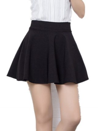 Brand Design Ball Gown for women Short Skirt girl Autumn And Winter Fit School Skirt Red Back Color Women Clothing Pleated skirt