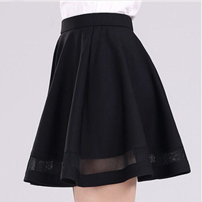 Fashion Grid women skirt elastic faldas ladies tulle midi skirt Sexy Girls lolita mini Pleated tutu skirts womens saias jupe 2