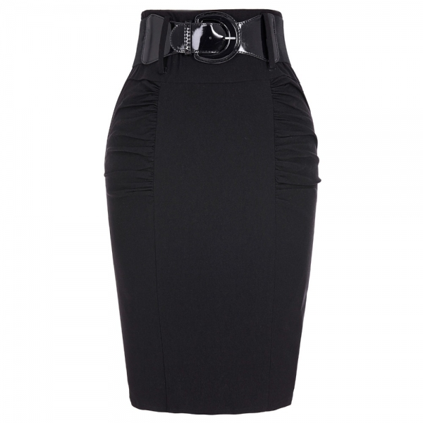 19 Sexy party pencil Skirts Womens Business Work Office Skirt sashes High Waist Elastic Bodycon Slim Fitting Ladies Skirts