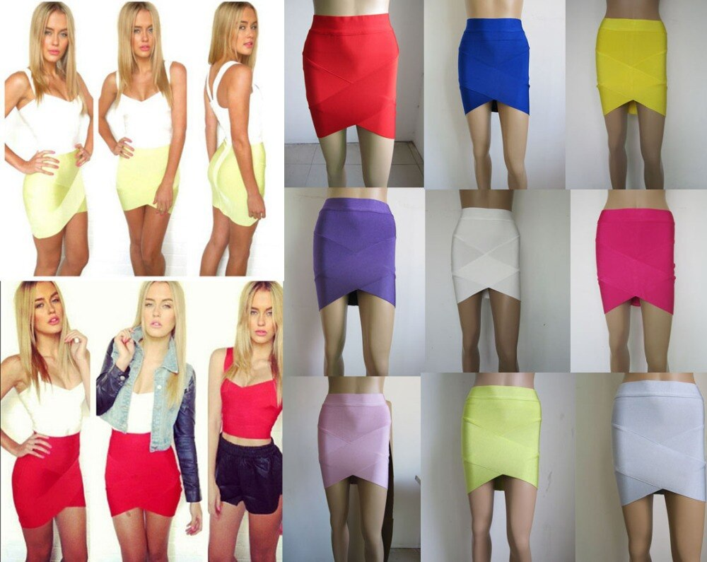 Free Delivery European and American fashion star Various colors cross bandage skirts 1