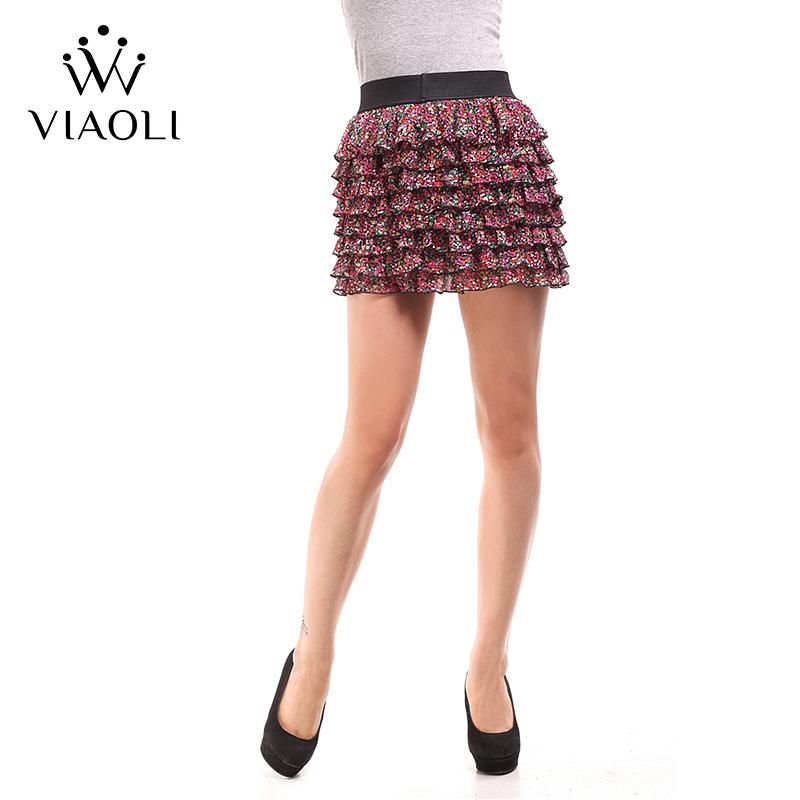 VIAOLI Women Fashion Sexy Lady Schoolgirl Cosplay Sleepwear Plaid Night Super Mini Pleated Skirt Short Skirt size XS S M L XL 3