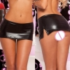 19 Hot New free shipping Sexy Black PVC Wet Look Lycra Micro Mini Skirt Party Dance Fetish