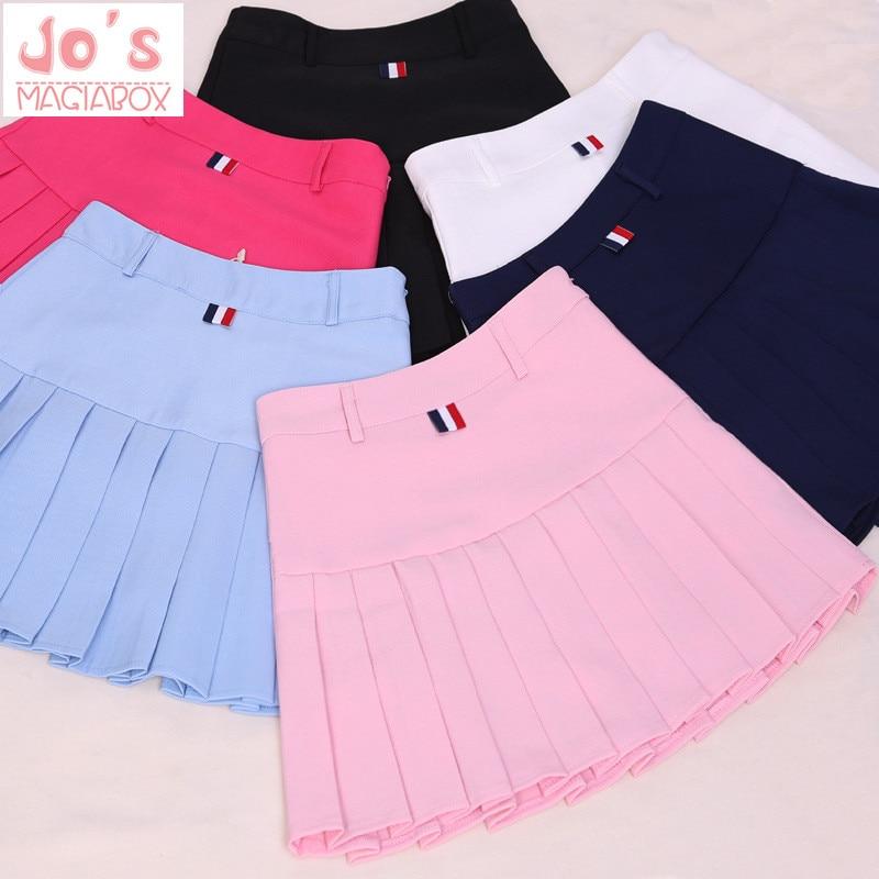 high waist pleated skirts Kawaii Harajuku Skirts women girls lolita a-line sailor skirt Large Size Preppy school uniform 1
