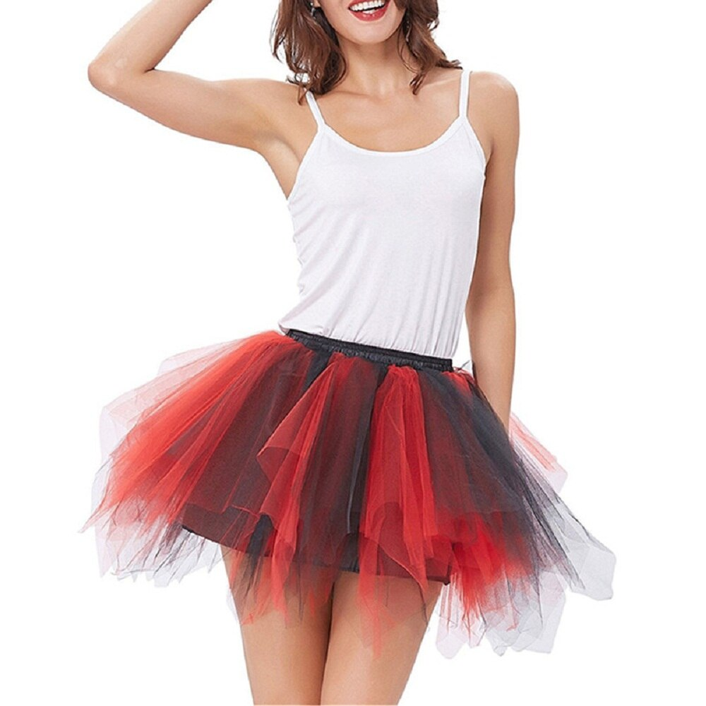 High Quality Women Tulle Tutu Skirt Pleated skirt Sexy Full Lining Adult Dance Ball Gown skirts Hot sale 3
