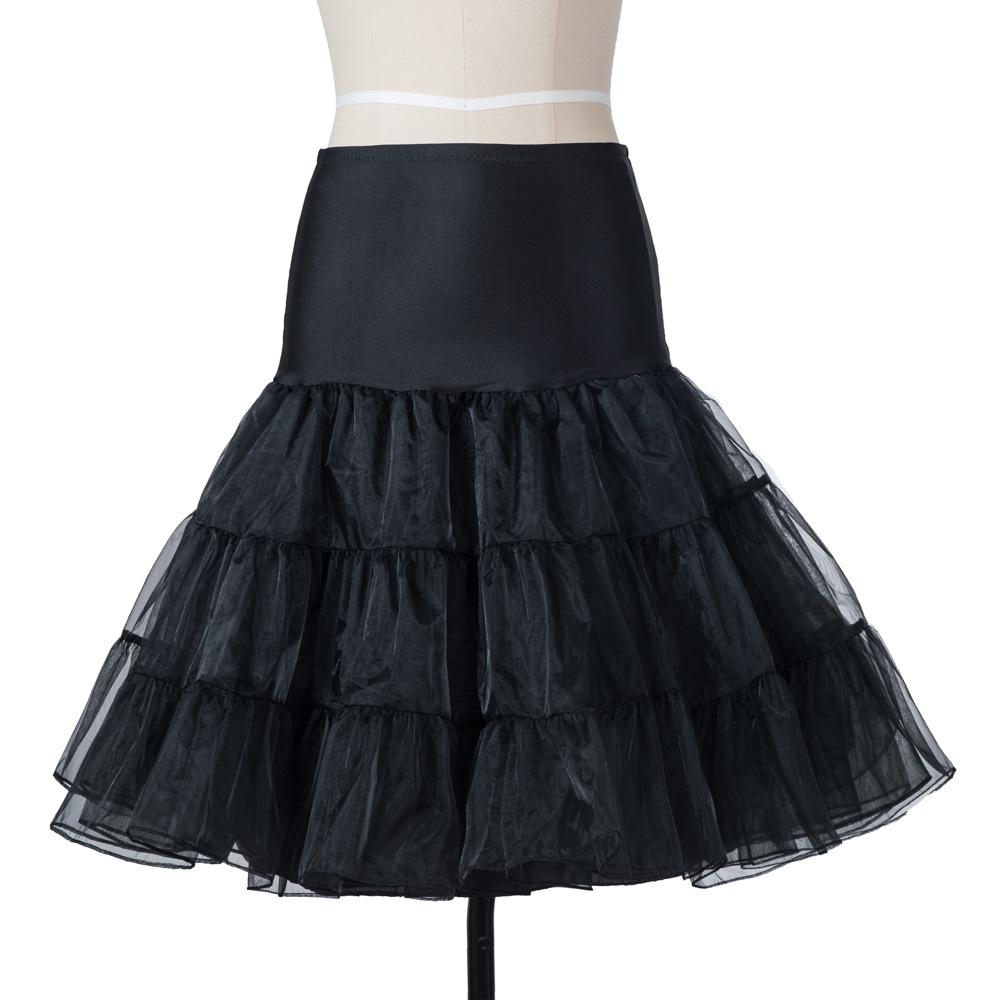 12 colors white Lady Girls skirts tulle Underskirt Rockabilly Dance Petticoat Crinoline Retro Vintage tutu Skirt female cheap 3
