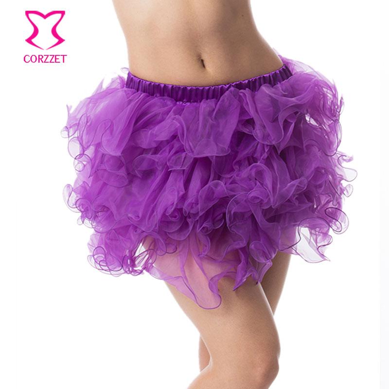 Adult Sexy Layered Ruffle Mini Tutu Skirt Women Burlesque Costume Pettiskirt Petticoats Clubwear Ball Gown Corset Underskirt