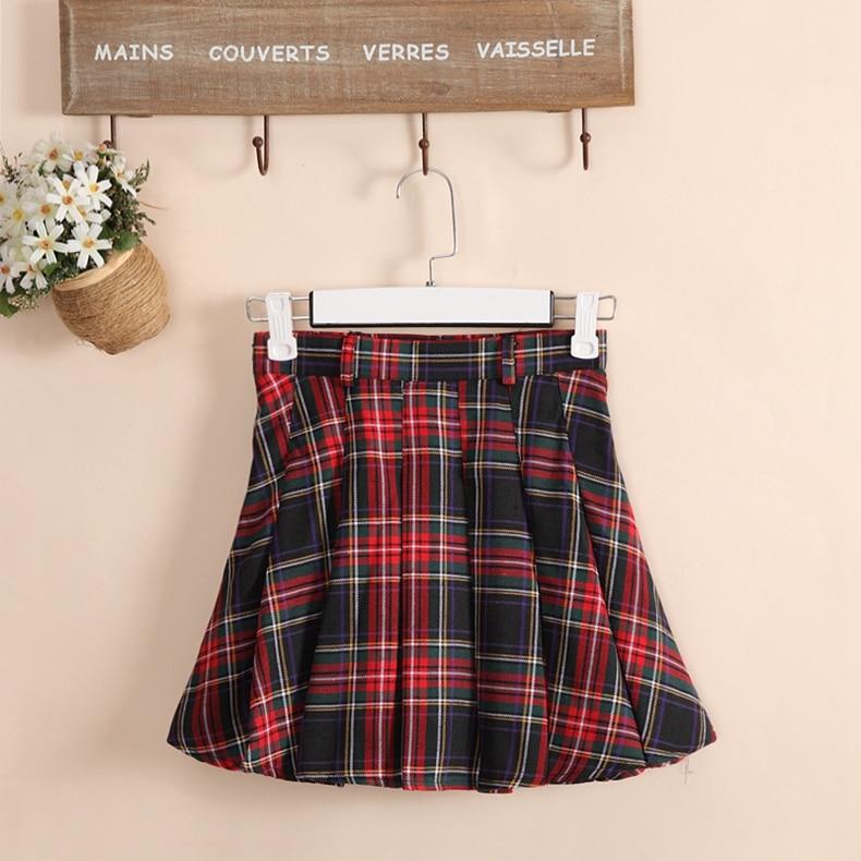 6 colors Plaid uniform skirts Korea Fashion Preppy Style Pleated Skirt Women Red Plaid Skirt School Uniform Girls Short Skirts 1