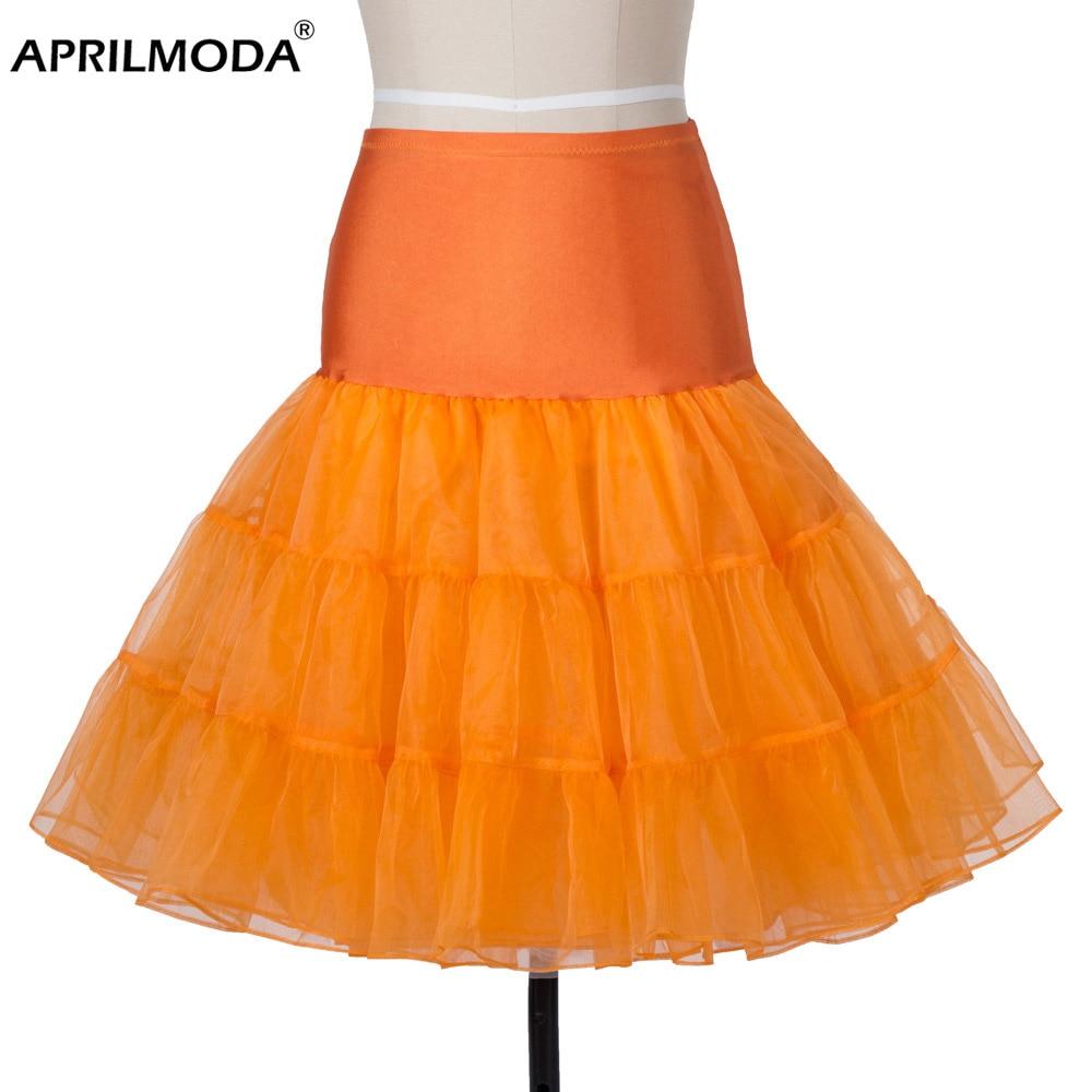 12 colors white Lady Girls skirts tulle Underskirt Rockabilly Dance Petticoat Crinoline Retro Vintage tutu Skirt female cheap 1
