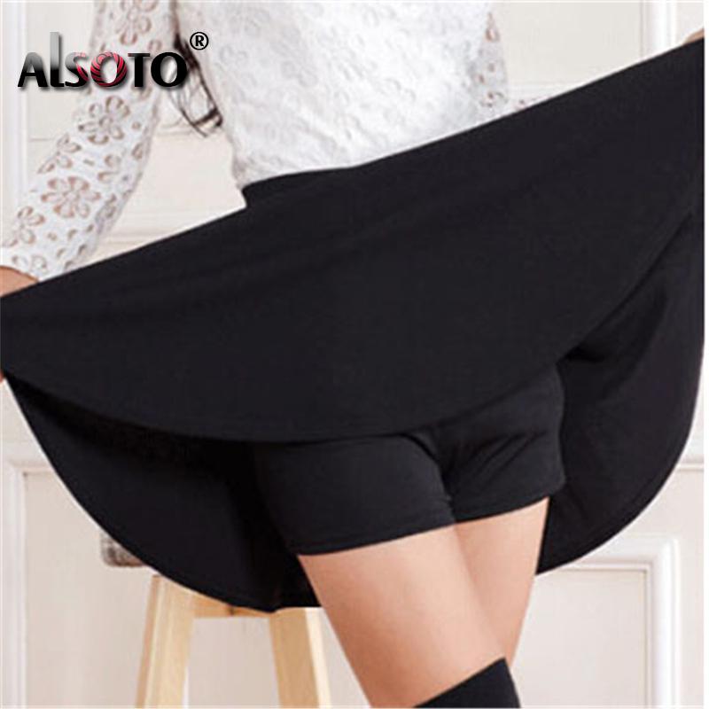 ALSOTO Summer Women Skirt Sexy Saia Short Skater Skirts for Ladies Black Pleated Tutu School Skirt Fashion Faldas Jupe Ball Gown 2