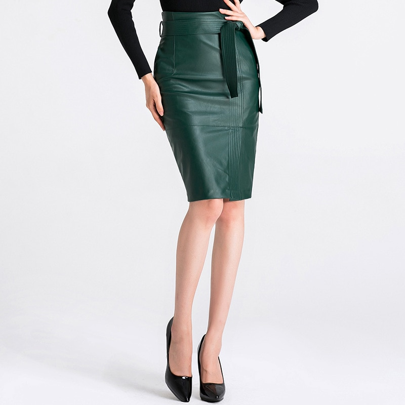3XL 4XL PU leather Skirt Women Plus Size Autumn Winter Sexy High Waist Faux leather Skirts Womens Belted Fashion Pencil Skirt 3