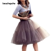 Fashion 5 Layer New 16 Tulle Skirts winter Mini skirt Women Fashion Party Design formal Skirts