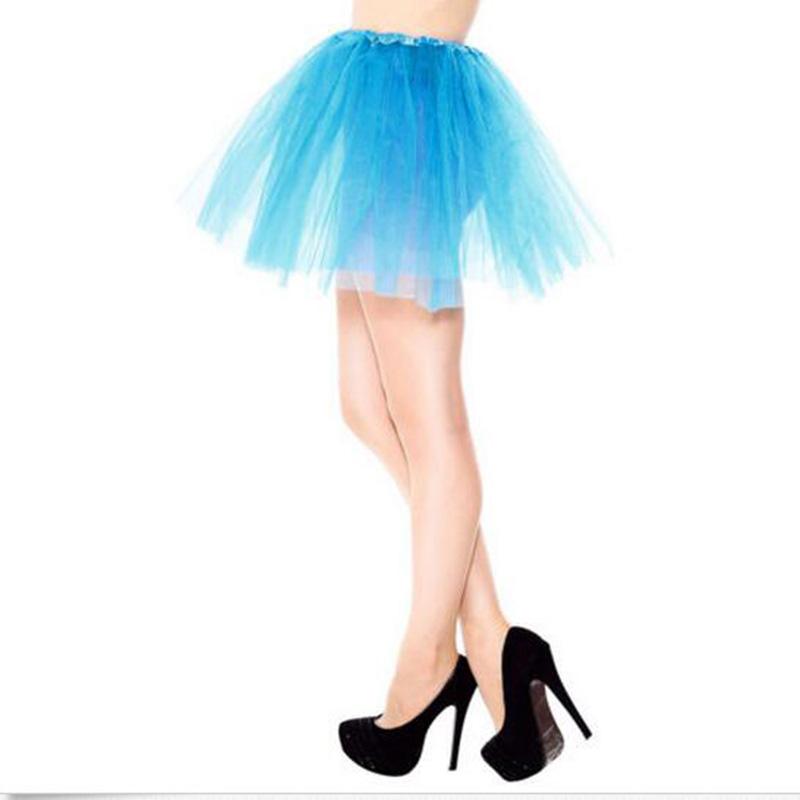 Factory 3 layers Tulle tutu Organza Skirt Party Performance Tutu Petticoat Fluffy Teenage Girl Adualt Women Pettiskirt ball gown 3