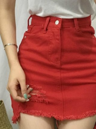 Sexy Women's Skirt Casual Korean Skirts Womens Summer Hole New Mini Skirt Women Fashion Skirts 19 White Black Denim Skirt