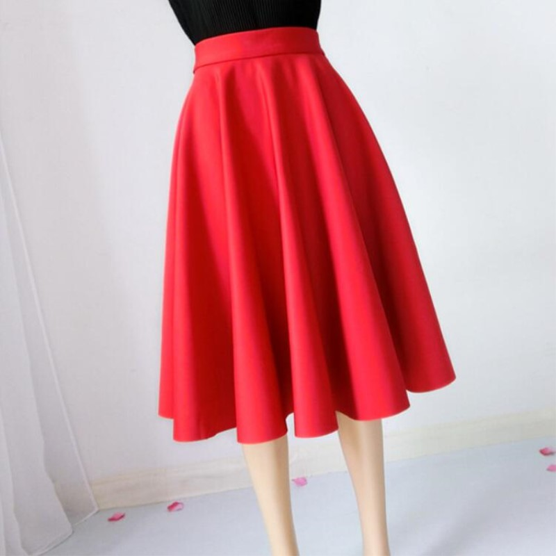 Paige Skirts Space cotton Autumn Winter Grown Place Umbrella Skirt Retro Waisted Body Skirt New Europe And The Code Word Pleated 1