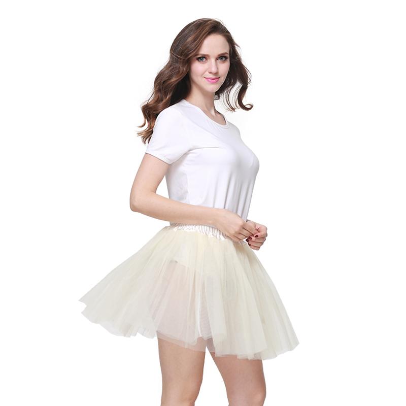 Factory 3 layers Tulle tutu Organza Skirt Party Performance Tutu Petticoat Fluffy Teenage Girl Adualt Women Pettiskirt ball gown