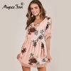 Half Sleeve Lace Patchwork Summer Dress 19 New Boho Casual Sweet Pink Hollow Out Swing Mini A-Line Dresses Maxi Beach Dress