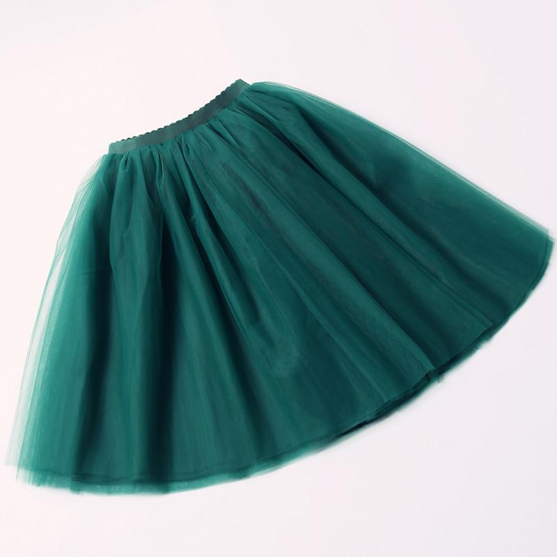 5 Layers 65cm Black Pleated skirt Sexy Midi Tulle skirt High Waist Full Lining Adult Tutu Korean Style Women 3