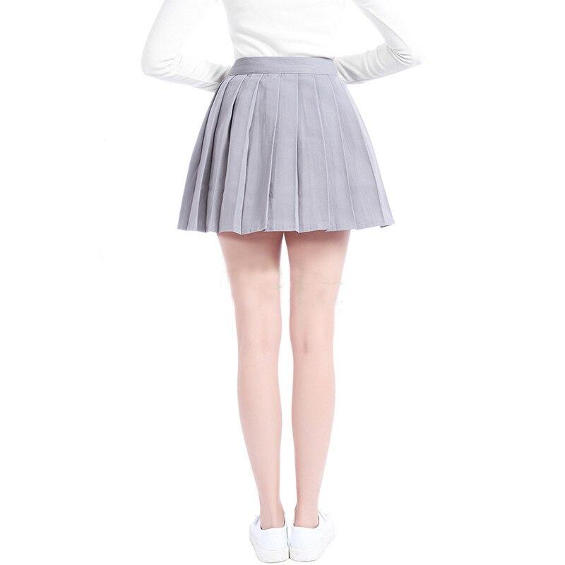 ROLECOS Plain Gray Girls Pleated Skirt School Patterns Preppy Sweet Style Women Skirt Summer CC34-QU-GY 2