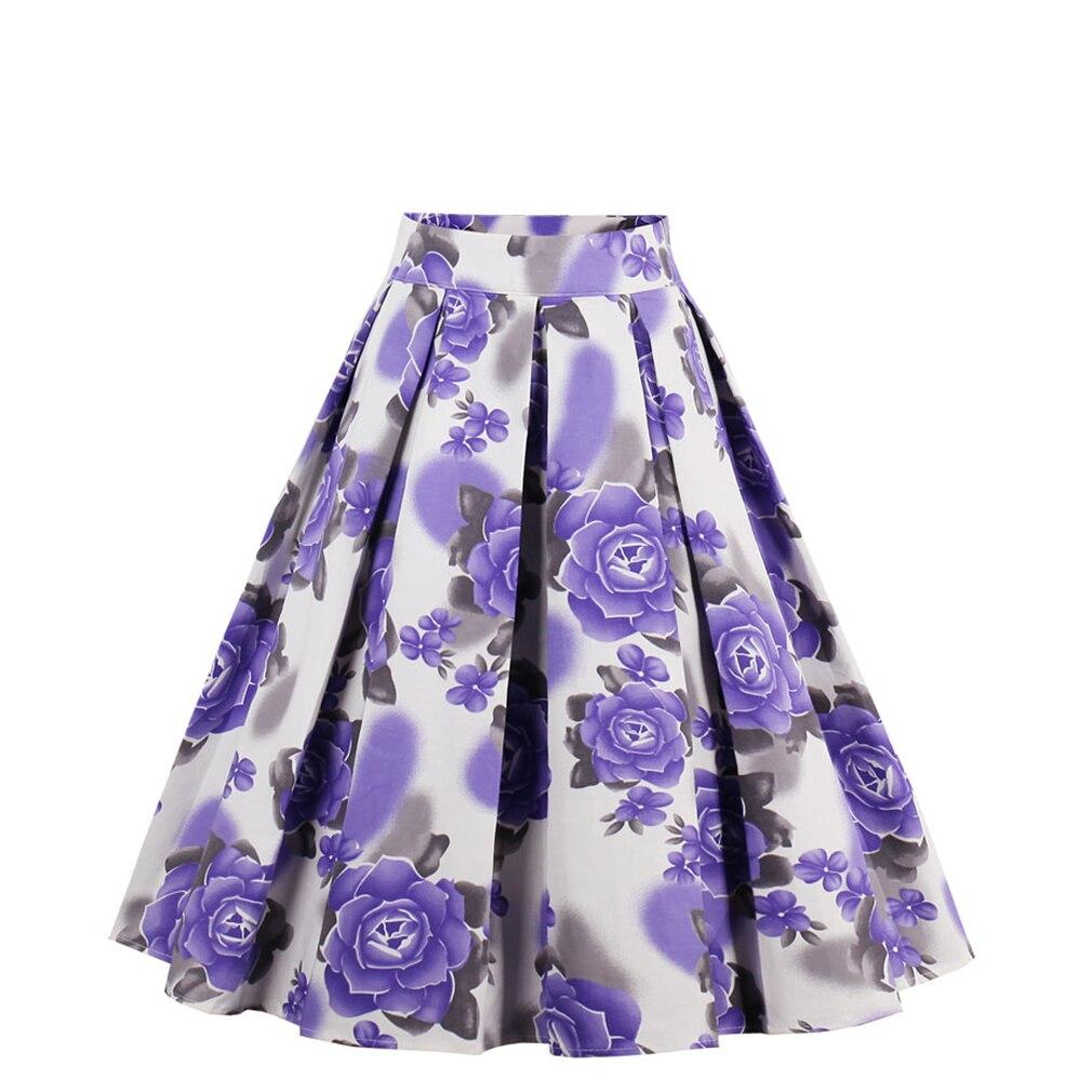 New 4 color Bohemian Summer Vintage Skirt Wop loose Woman Girls Print Retro Ball Gown Skirt Femininos Casual Sexy Swing Vestidos 1