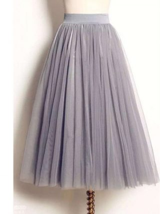 UWBACK Women Skirt 18 Summer Long Maxi Mesh Skirt Tulle Skirts Women's Full Skirt Tutu 3 Colors Mujer Falda KB1040