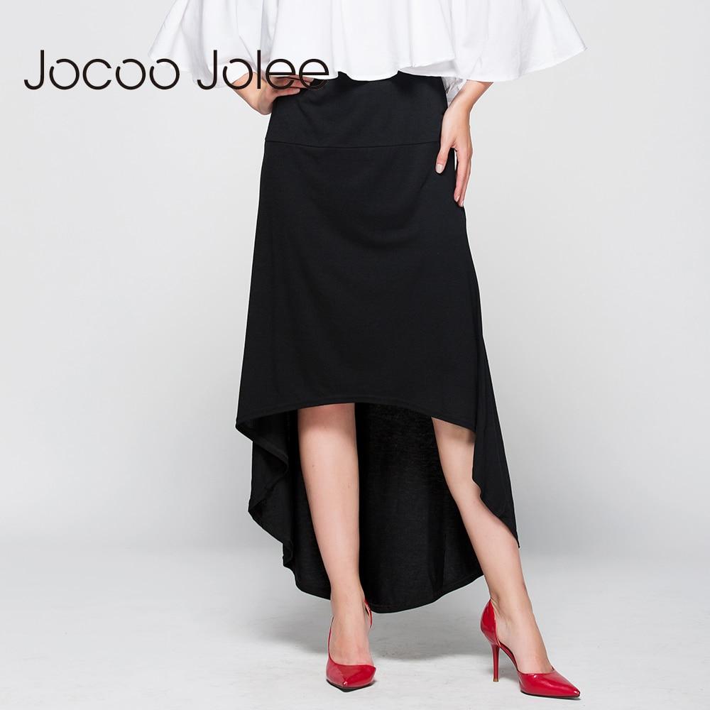 Jocoo Jolee Women Asymmetrical Skirt Swallow Tail Natural Waist Casual Party Beach Fitted Elegant Long Skirt Ladies Jupe 1
