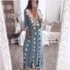 Plus size bohemian half sleeve maxi dress Women casual loose tassels dress Summer 19 straight long dresses robe femme