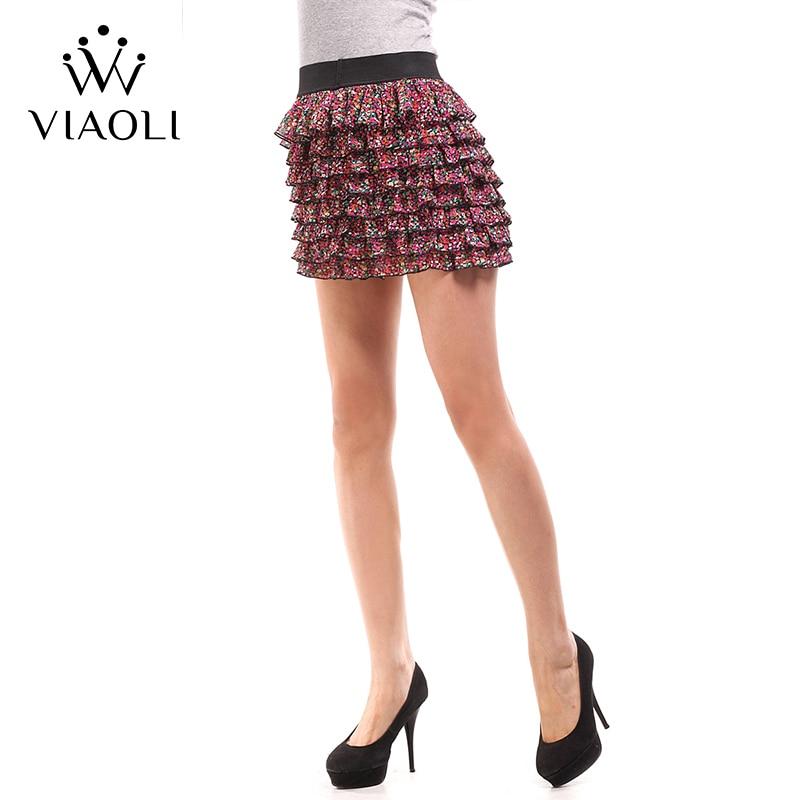 VIAOLI Women Fashion Sexy Lady Schoolgirl Cosplay Sleepwear Plaid Night Super Mini Pleated Skirt Short Skirt size XS S M L XL 2
