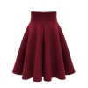 18 sexy retro women pleated skirt autumn and winter fashion high waist large size warm solid color skirt female