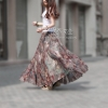 Spring and summer chiffon bust skirt full beach skirts expansion bottom tulle Spring and summer chiffon bust skirt full beach skirts expansion bottom tulle