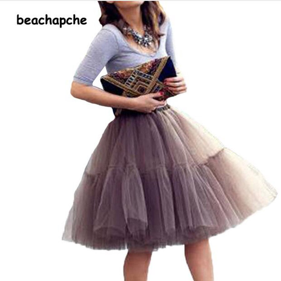 Fashion 5 Layer New 17 Tulle Skirts winter Mini skirt Women Fashion Party Design Tut Skirts 1