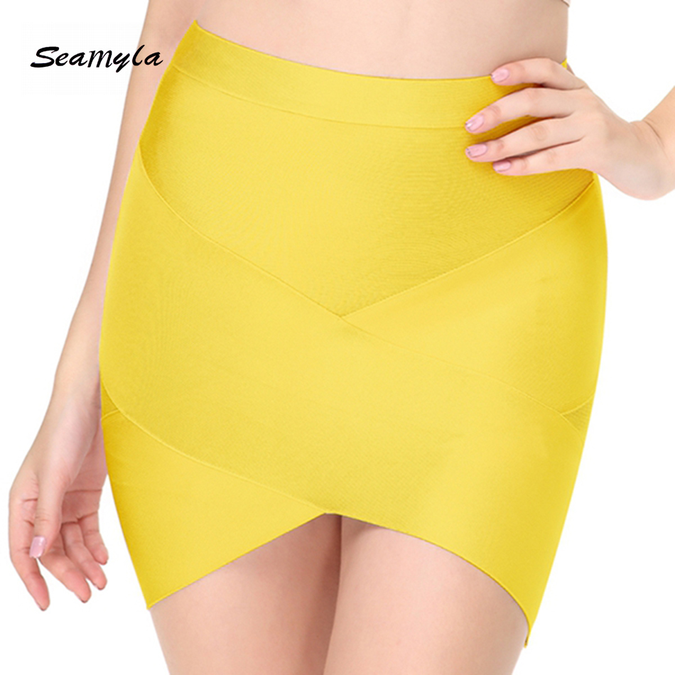 Seamyla 19 New Fashion Women Skirts Sexy Celebrity Party Bodycon Bandage Pencil Skirt Night Out Club Mini Skirts Wholesale 1