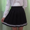 Japanese high school student girl cute kawaii classical pleated skirt Japanese high school student girl cute kawaii classical pleated skirt Macaron color cosplay high waist school uniform skirt