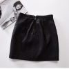 Retro A-Line Faux Leather Skirt New Women Contrast Color Flower Mini Short Retro A-Line Faux Leather Skirt New Women Contrast Color Flower Mini Short PU Leather Sexy Floral Embroidery Skirts Black