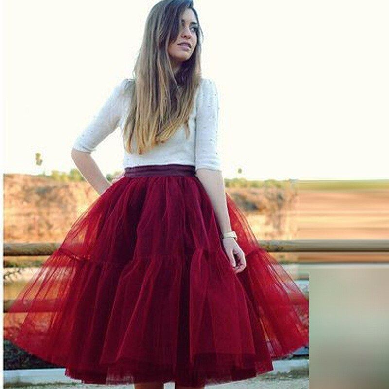 Fashion 5 Layer New 17 Tulle Skirts winter Mini skirt Women Fashion Party Design Tut Skirts 2