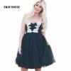 Tutu Tulle Skirt Vintage Midi Pleated Skirts Womens Lolita Petticoat 5 Layers 60cm Tutu Tulle Skirt Vintage Midi Pleated Skirts Womens Lolita Petticoat Bridesmaid Wedding faldas Mujer saias jupe