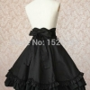 Empire Waist Gothic Lolita Skirt With Bow-knot Ornament High Quality Girls Women Cotton Empire Waist Gothic Lolita Skirt With Bow-knot Ornament Women Cosplay Costume
