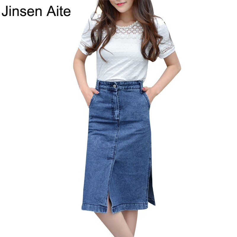 New Arrival Autumn and Summer Women's Sexy Slim Denim Skirts Pencil Jeans Skirt For Women Fashion Style Package Hip Skirt JS346