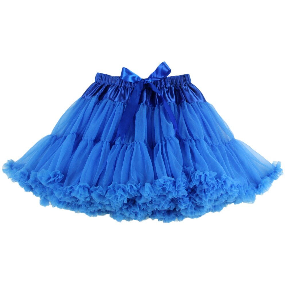 2pc Extra Fluffy Mini Skirt Girl Adult Women Pettiskirt Tutu 2 Layer with Lining Holiday Party Dance Cloth Petticoat Tulle Skirt 2