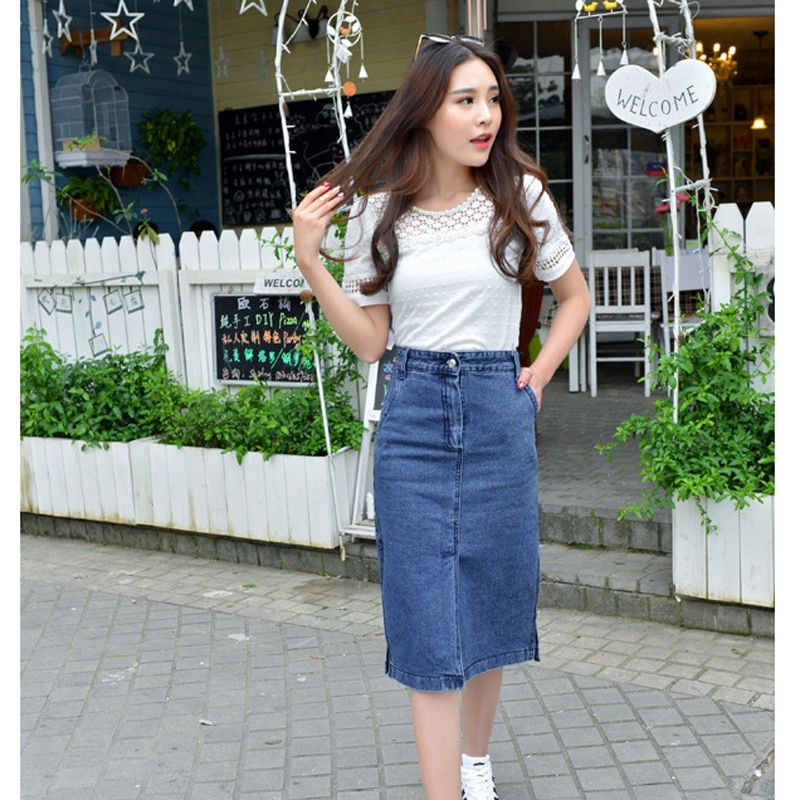 New Arrival Autumn and Summer Women's Sexy Slim Denim Skirts Pencil Jeans Skirt For Women Fashion Style Package Hip Skirt JS346 2