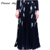 17 Women Maxi Long Skirt Elastic Waist Pleated Skirts Beach Boho Vintage Summer Long Pleated Skirts Faldas Saia