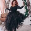 100cm Length Wedding DIY Skirt Tulle Overskirt Sexy Pleated  100cm Length Wedding DIY Skirt Tulle Overskirt Sexy Pleated Fashion Handmade Woman Tutu Female Long Skirt Lolita Saia Longa